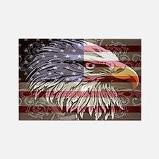 patriotic eagle Rectangle Magnet
