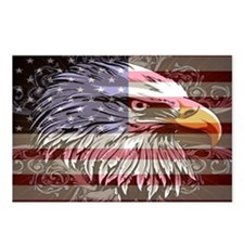 patriotic eagle Postcards (Package of 8)