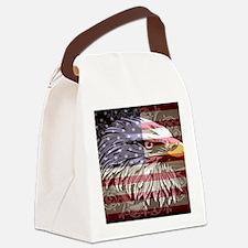 patriotic eagle Canvas Lunch Bag