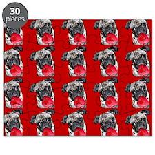 Valentine's Pug dog Puzzle
