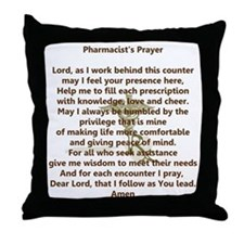 Pharmacist's Prayer Throw Pillow