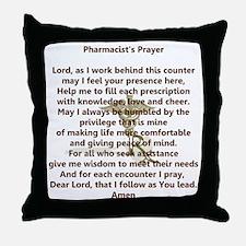 Pharmacist's Prayer Throw Pillow