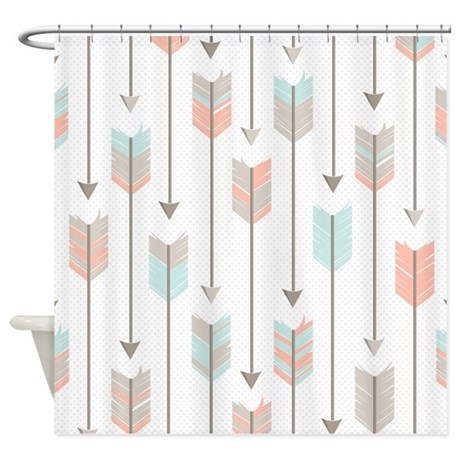 Bohemian Tribal Arrows Pattern Shower Curtain By Cutetoboottoo