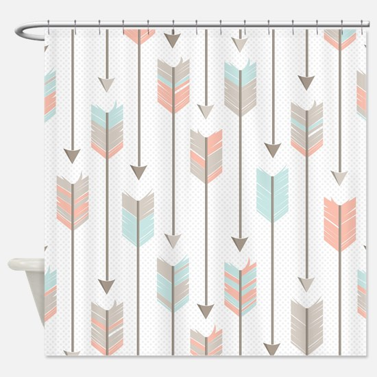 Bohemian Tribal Arrows Pattern Shower Curtain