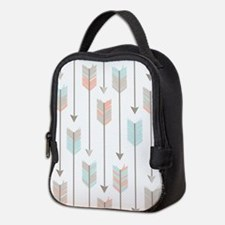 Bohemian Tribal Arrows Pattern Neoprene Lunch Bag