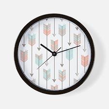 Bohemian Tribal Arrows Pattern Wall Clock