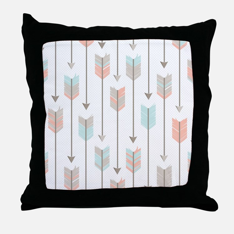 Bohemian Tribal Arrows Pattern Throw Pillow