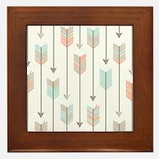 Bohemian Tribal Arrows Pattern Framed Tile