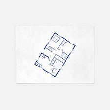 Floor Plan 5'x7'Area Rug