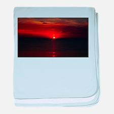 Deep color sunset baby blanket
