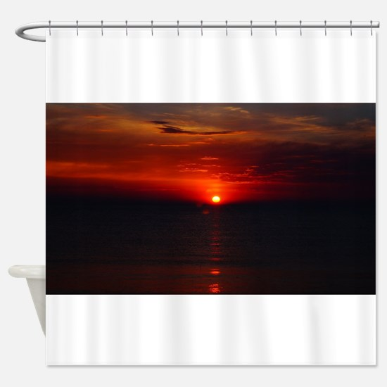 Deep color sunset Shower Curtain