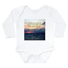 JOHN 14:6 VERSE Long Sleeve Infant Bodysuit
