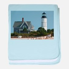 Cape Cod Lighthouse baby blanket