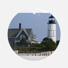 Cape Cod Lighthouse Ornament (Round)