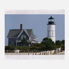 Cape Cod Lighthouse Throw Blanket