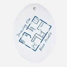 The Blue Prints Ornament (Oval)