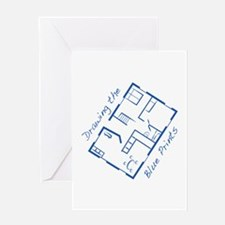 The Blue Prints Greeting Cards