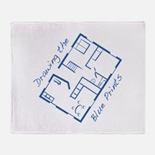 The Blue Prints Throw Blanket