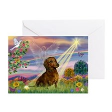 Cloud Angel & Dachshund Greeting Cards (Pk of 20)