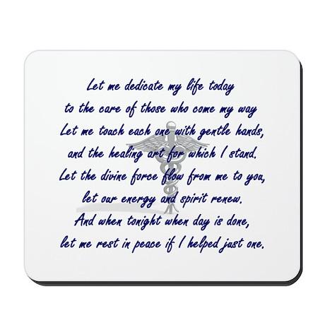 Physical Therapist's Prayer Mousepad
