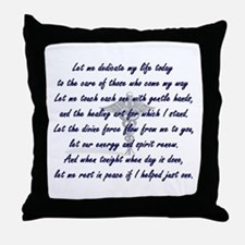 Physical Therapist's Prayer Throw Pillow
