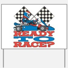 Ready to Race Go Kart Yard Sign