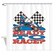 Ready to Race Go Kart Shower Curtain