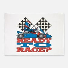 Ready to Race Go Kart 5'x7'Area Rug