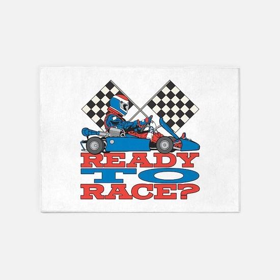 Ready to Race Go Kart 5'x7'Area Rug