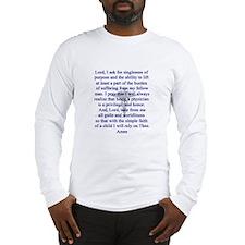 Physician's Prayer Long Sleeve T-Shirt