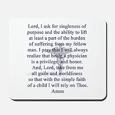 Physician's Prayer Mousepad