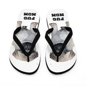 Pug Mom Flip Flops