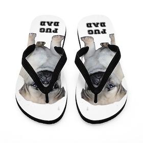 Pug Dad Flip Flops