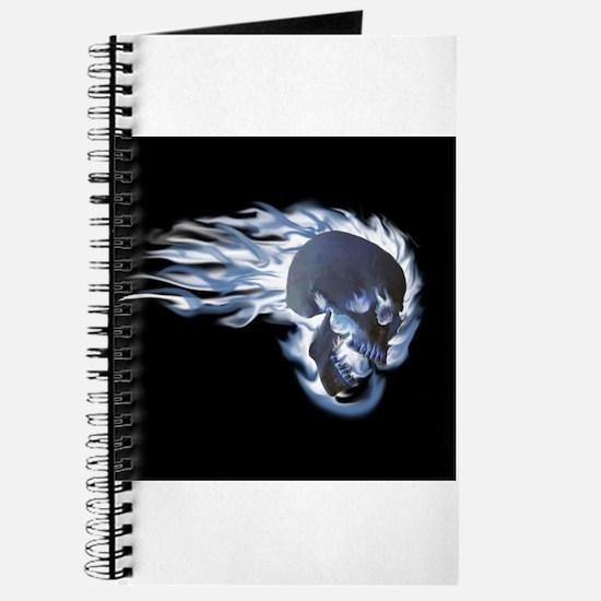 Blue Flaming Skull Journal