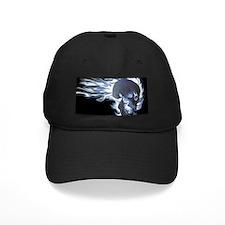 Blue Flaming Skull Baseball Hat