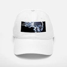 Blue Flaming Skull Baseball Baseball Cap