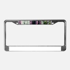 pink flamingos License Plate Frame