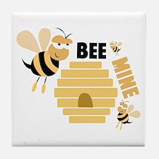 Bee & Hive Tile Coaster