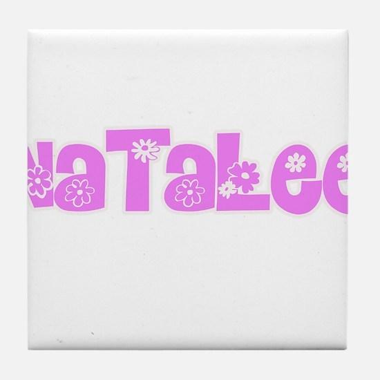 Natalee Flower Design Tile Coaster