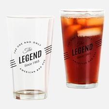 Birthday Born 1965 The Legend Drinking Glass