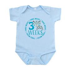 Cute Blue Tiger 3 Weeks Old Infant Bodysuit