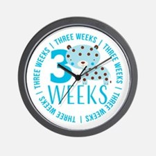 Cute Blue Tiger 3 Weeks Old Wall Clock