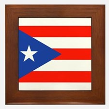 Puerto Rican Boricua Flag Bandera Orgu Framed Tile