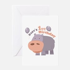 1st Birthday Greeting Cards