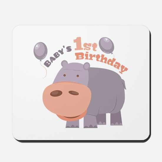 1st Birthday Mousepad