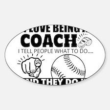 Baseball Coach Humor Decal