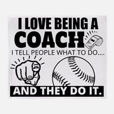 Baseball Coach Humor Throw Blanket