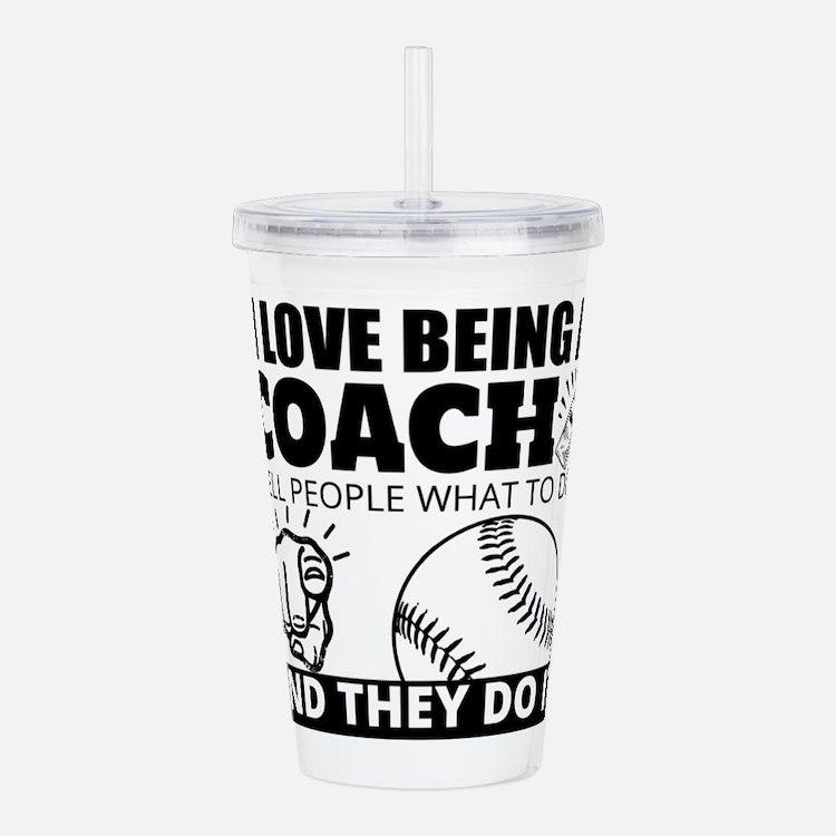 Baseball Coach Humor Acrylic Double-wall Tumbler
