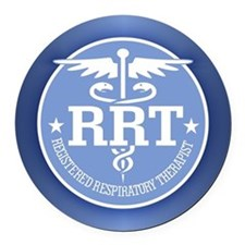 Respiratory therapy Round Car Magnet