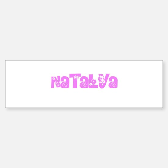 Natalya Flower Design Bumper Bumper Bumper Sticker